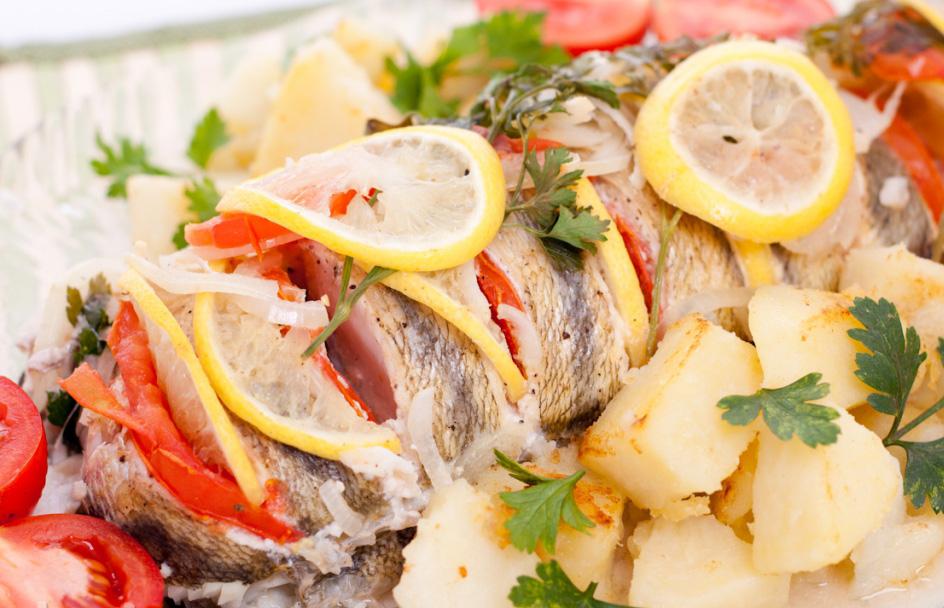 Запеченная рыба судак в духовке рецепт