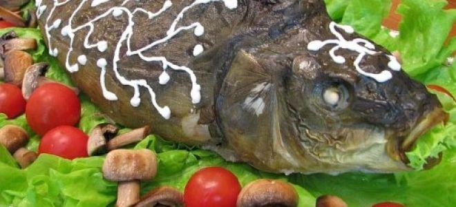 Карп, фаршированный грибами – рецепт для людей, которые заботятся о своём здоровье!